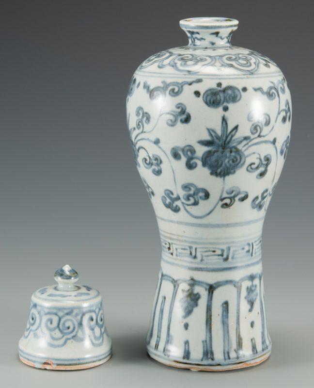 Lot 583: Blue & White Chinese Porcelain Vase
