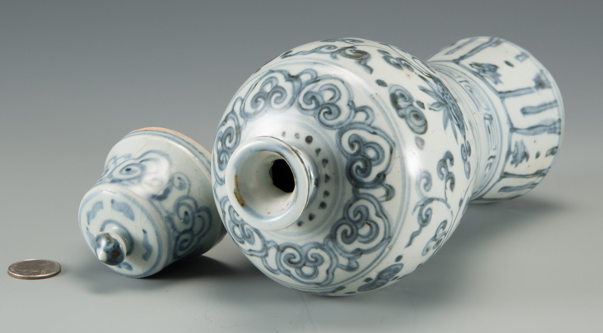 Lot 583: Blue & White Chinese Porcelain Vase