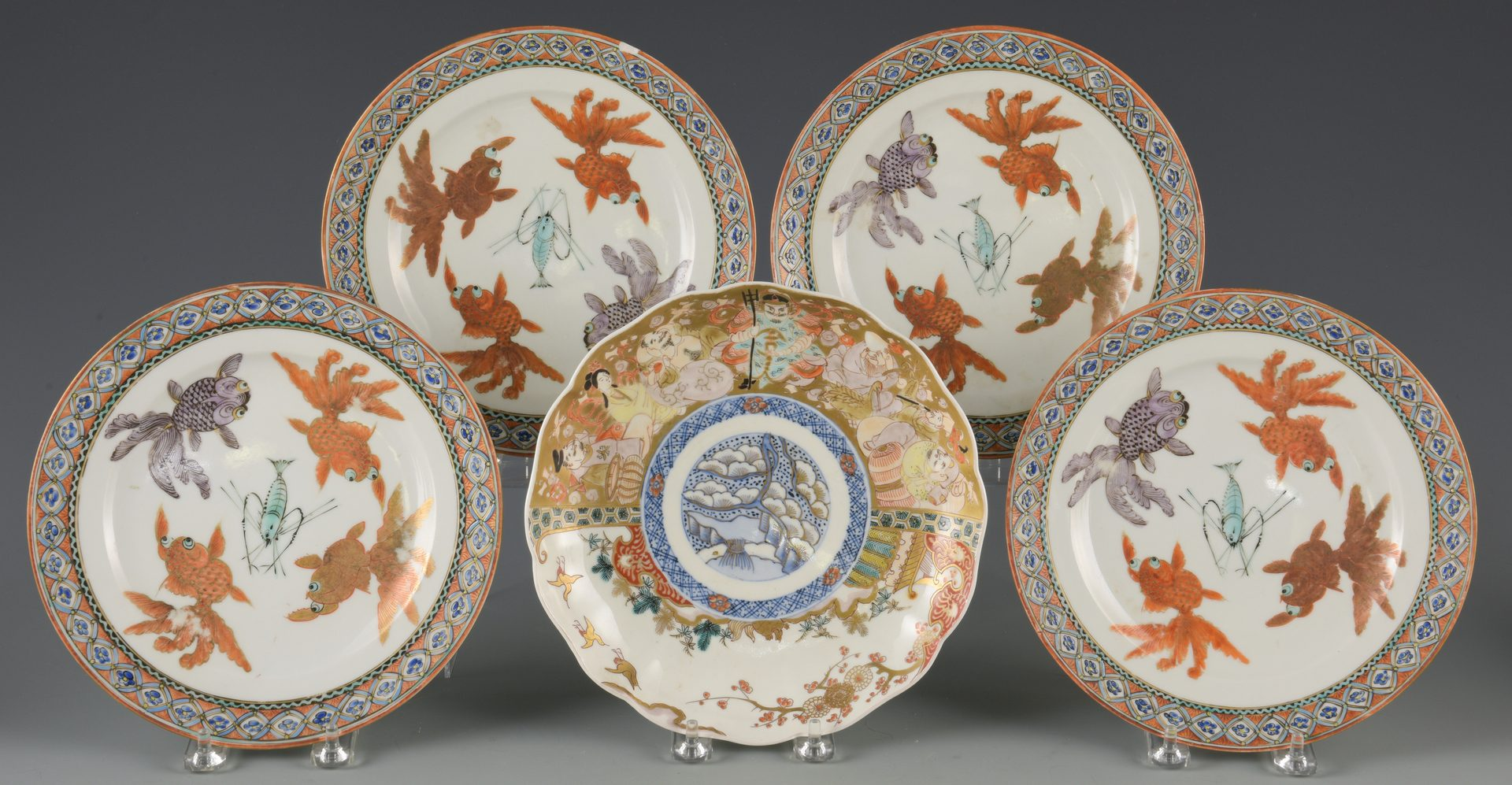 Lot 593: Japanese and Chinese Porcelain, 18 items