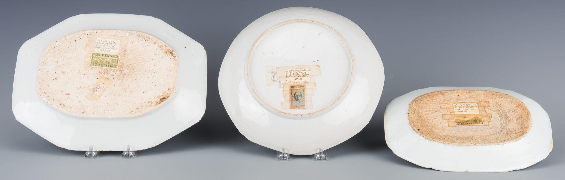 Lot 594:  8 pcs Canton Export Plates, Platters