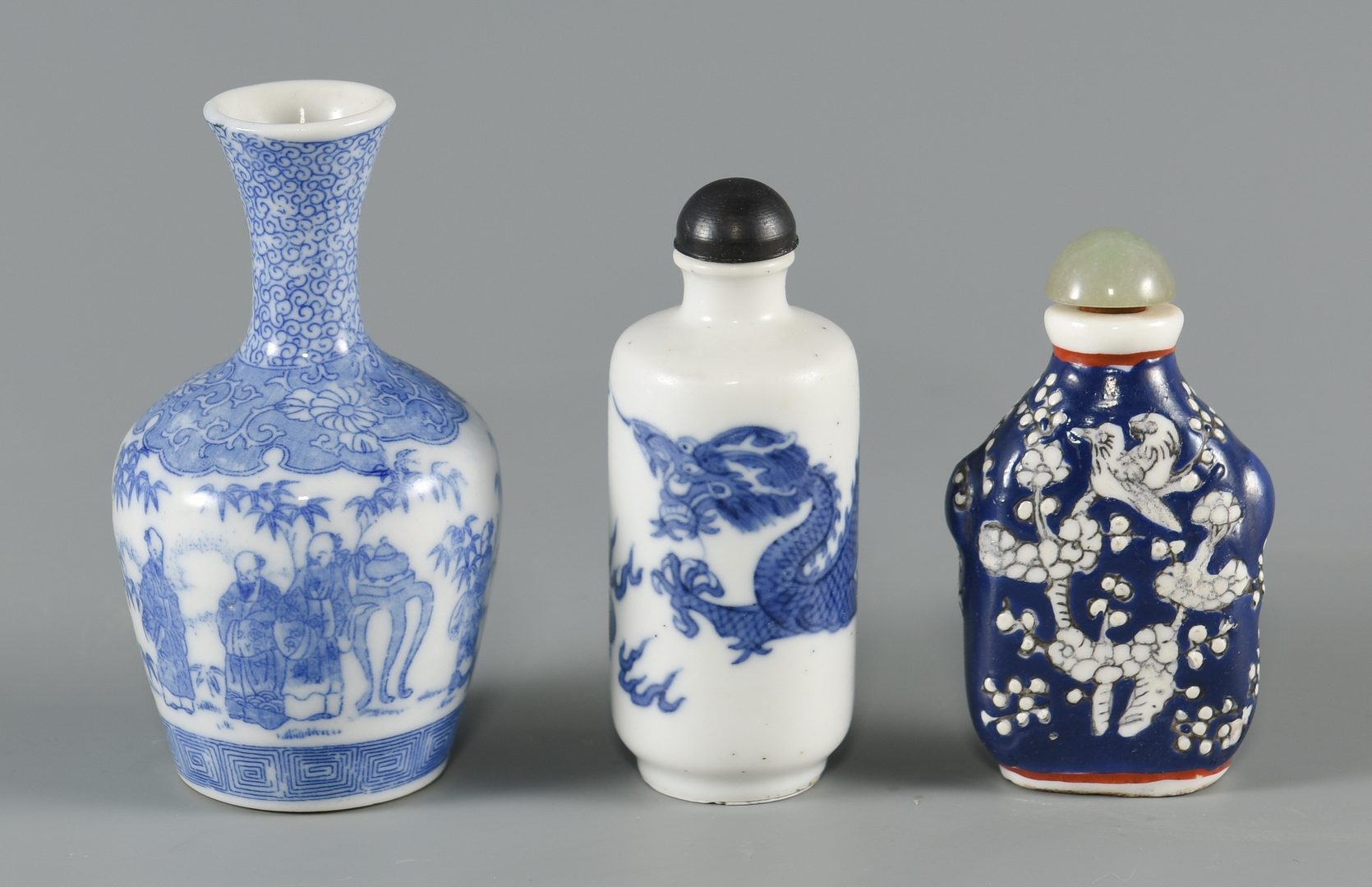 Lot 596: 6 Assorted Asian Porcelain Items