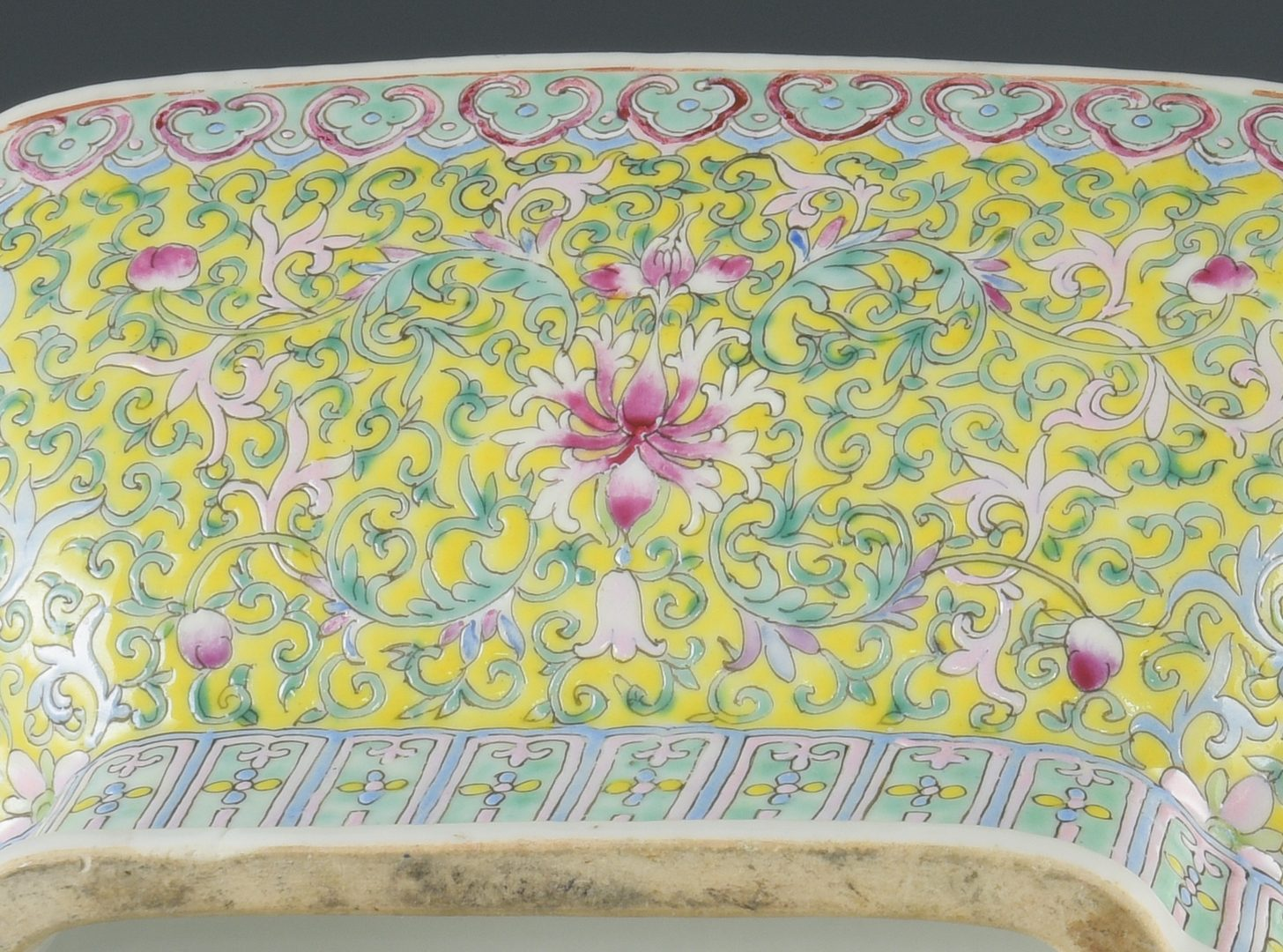 Lot 600: Famille Rose Footed Bowl and Vase