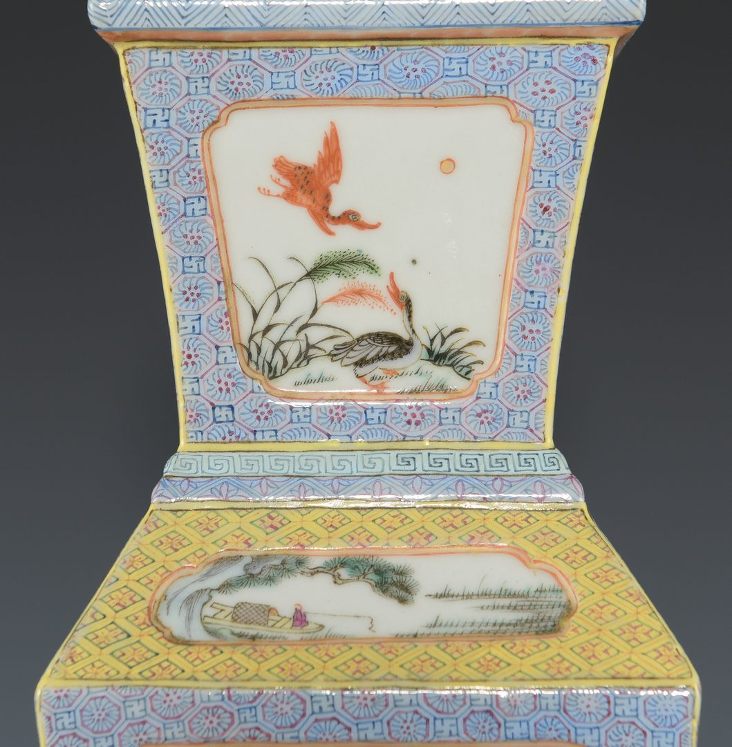 Lot 601: Chinese Republic Famille Rose Lamp