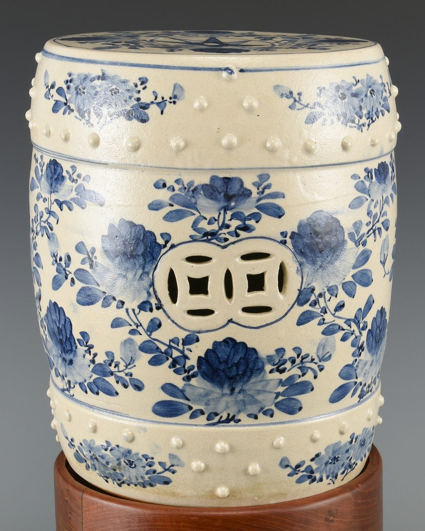 Lot 602: Chinese Dragon Paintings and Garden Stool