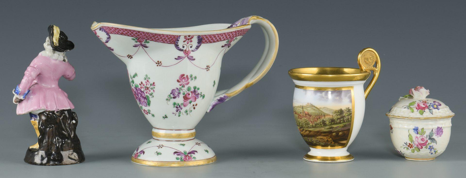 Lot 610: 4 European Porcelain items, incl. Samson