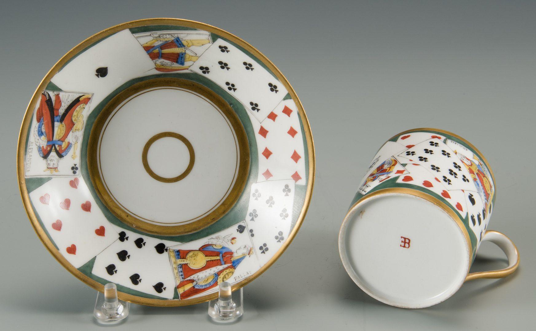 Lot 612: 4 Seasons Basket w/ Old Paris cup/saucer