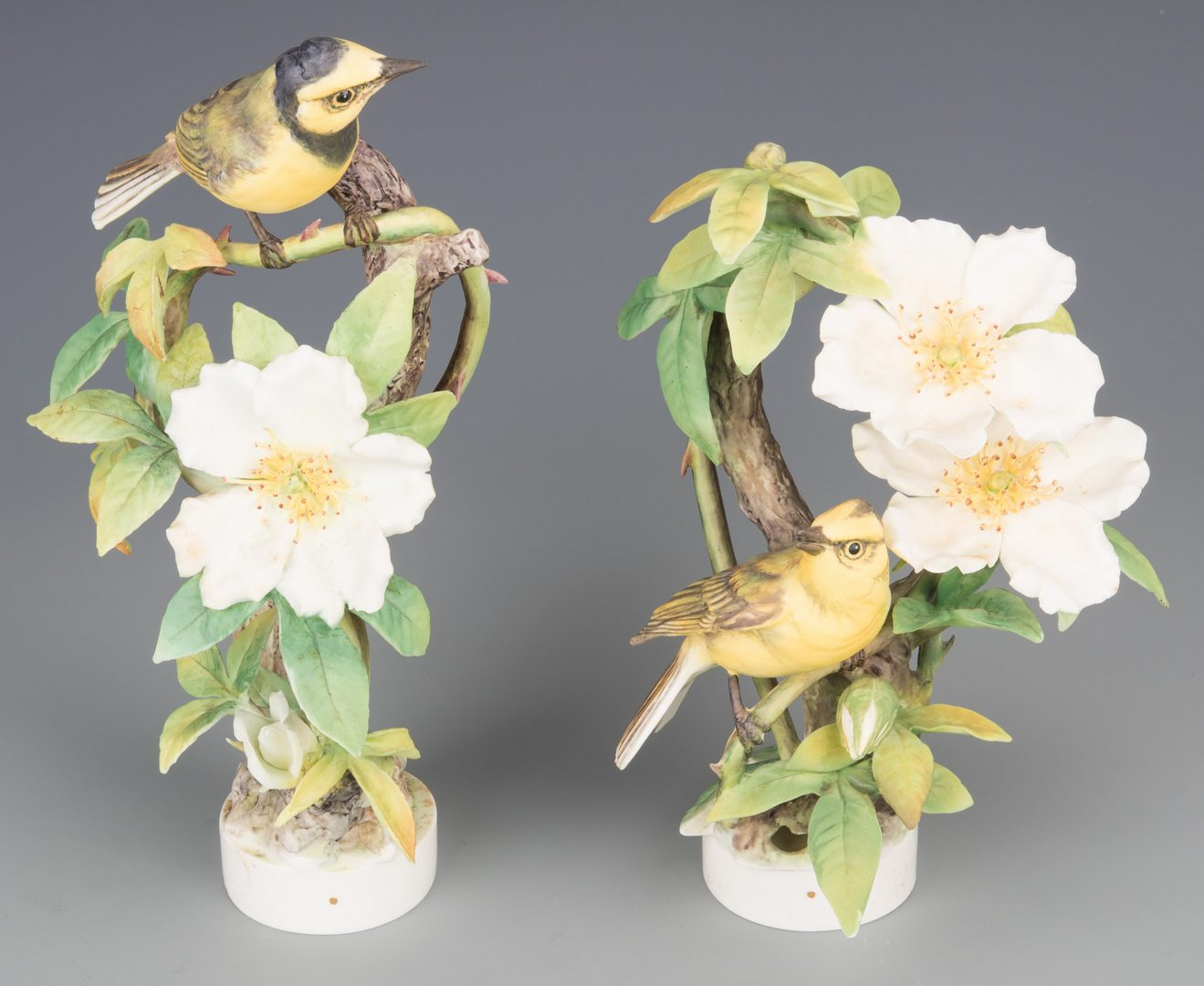 Lot 614: Pair Dorothy Doughty Hooded Warblers