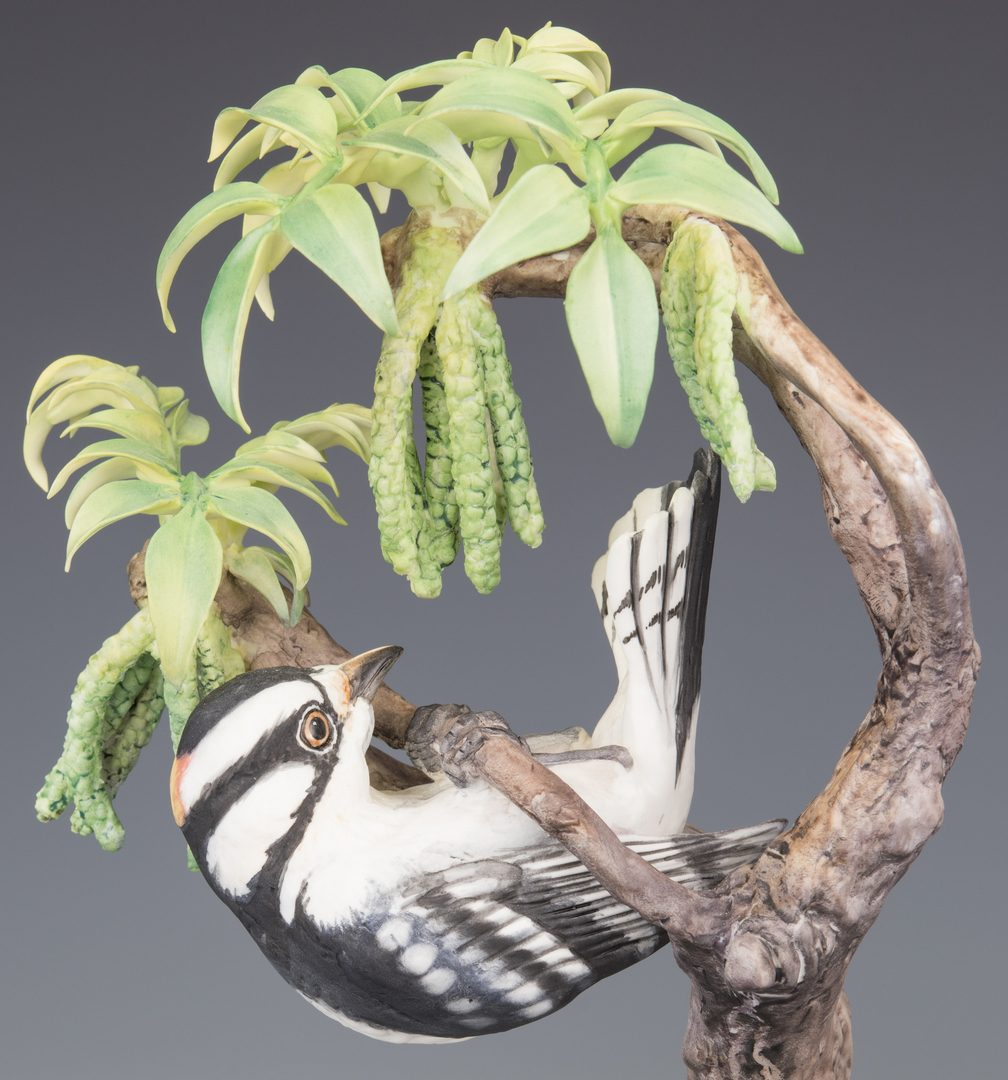 Lot 615: Pair Dorothy Doughty Downy Woodpeckers