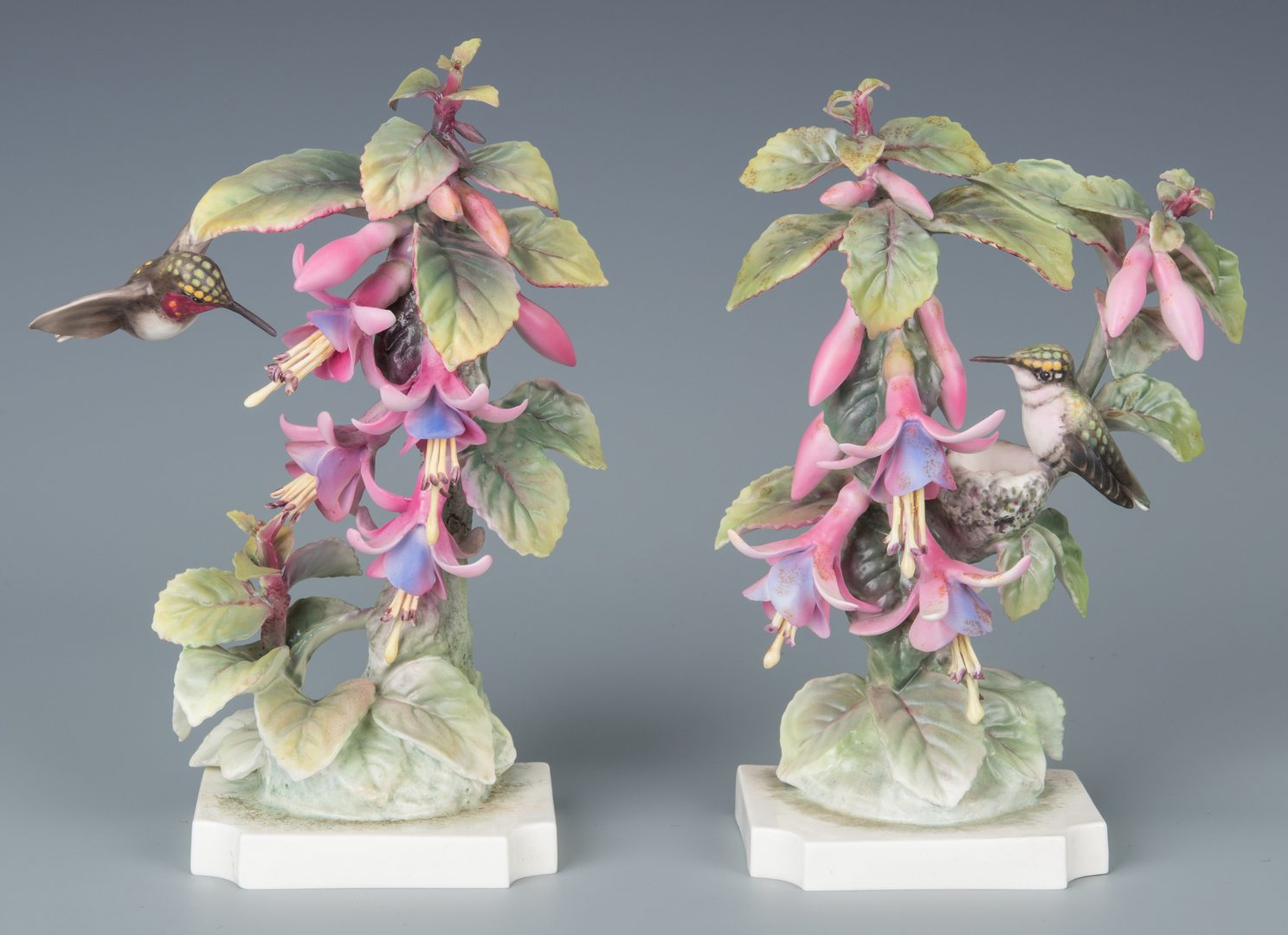 Lot 616: Pair Dorothy Doughty Hummingbirds