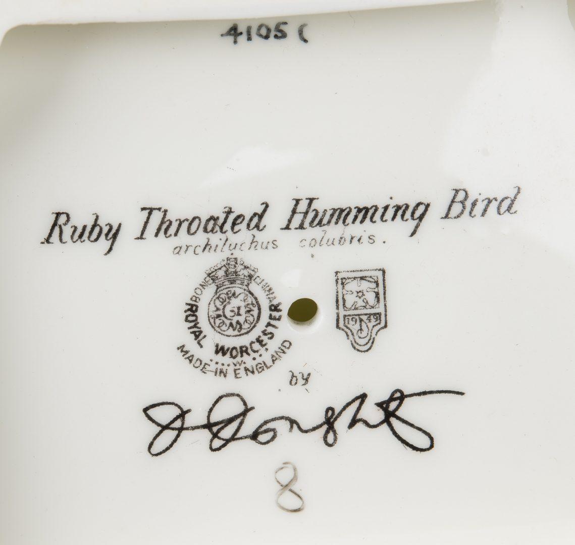 Lot 616: Pair Dorothy Doughty Hummingbirds