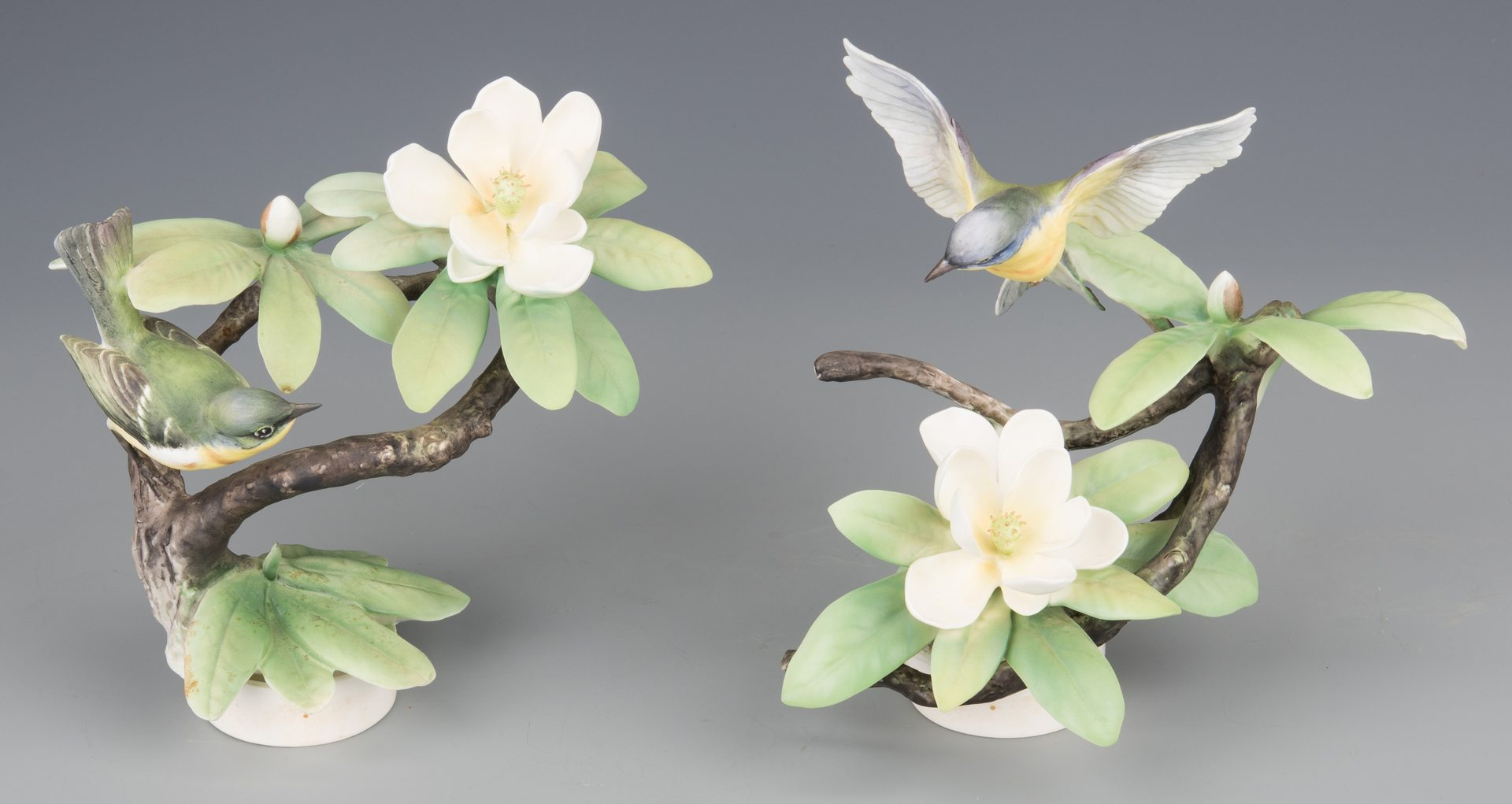 Lot 617: Pair Dorothy Doughty Parula Warblers