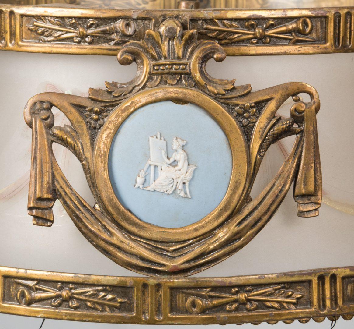 Lot 623: Regency Gilt Bronze Chandelier w/ Wedgwood Plaques
