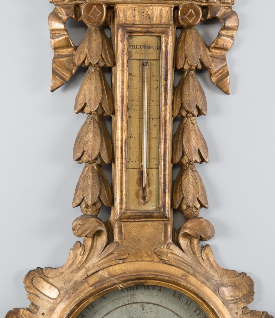Lot 624: French Carved Giltwood Barometer