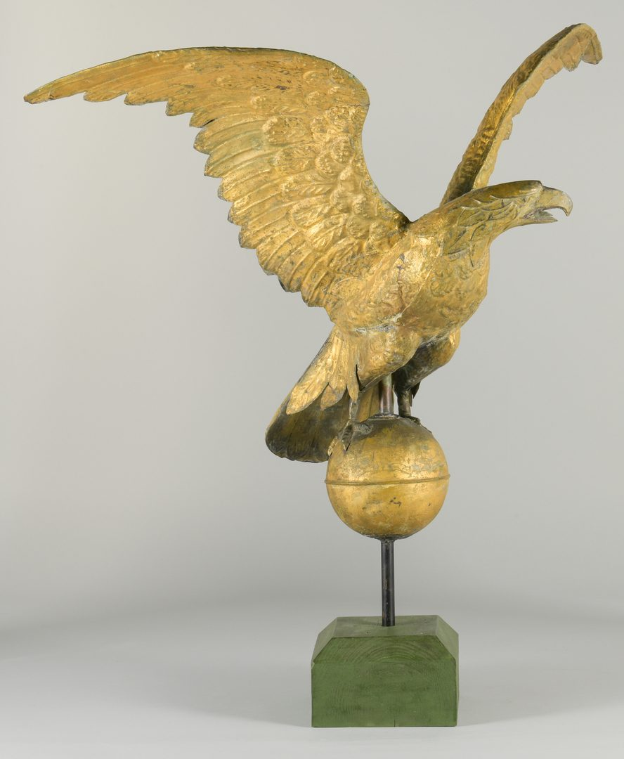 Lot 626: Eagle Weathervane w/Ball and Green Base
