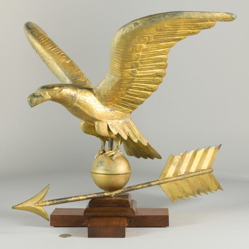 Lot 627: Eagle & Arrow Weathervane