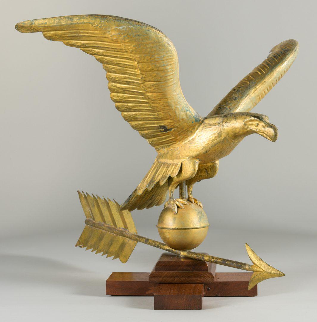 Lot 627: Eagle & Arrow Weathervane