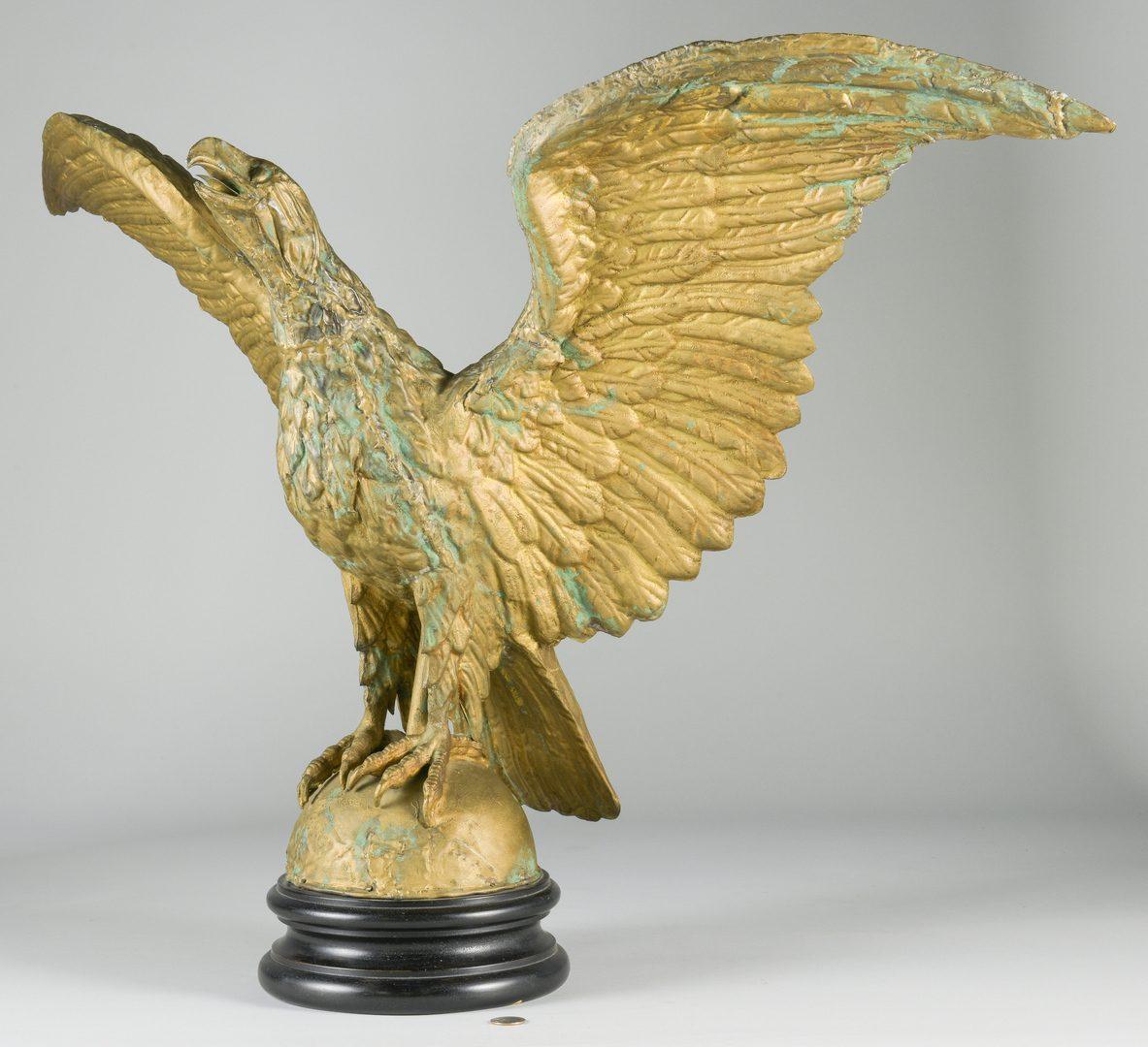 Lot 628: Eagle Weathervane w/ Ebonized Base