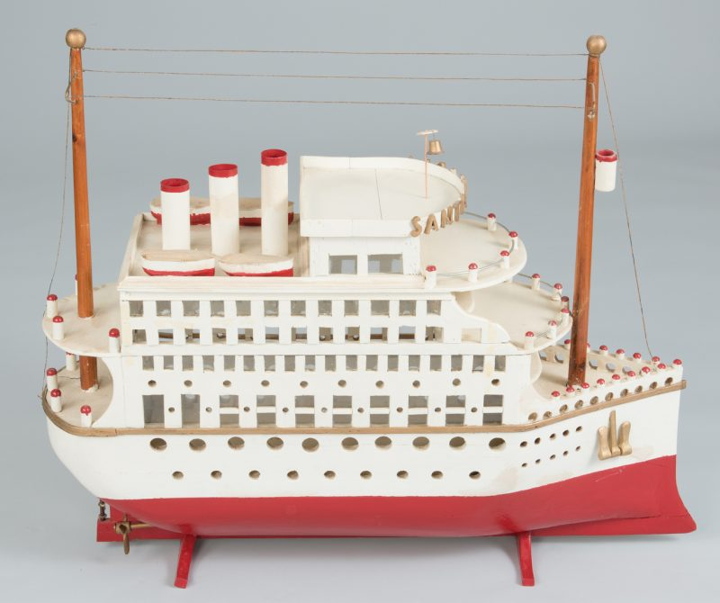 Lot 632: Folk Art Model of Riverboat