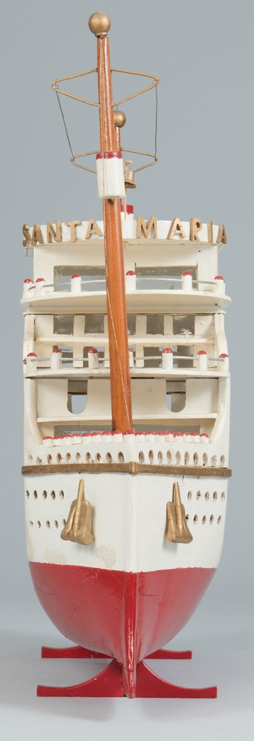 Lot 632: Folk Art Model of Riverboat