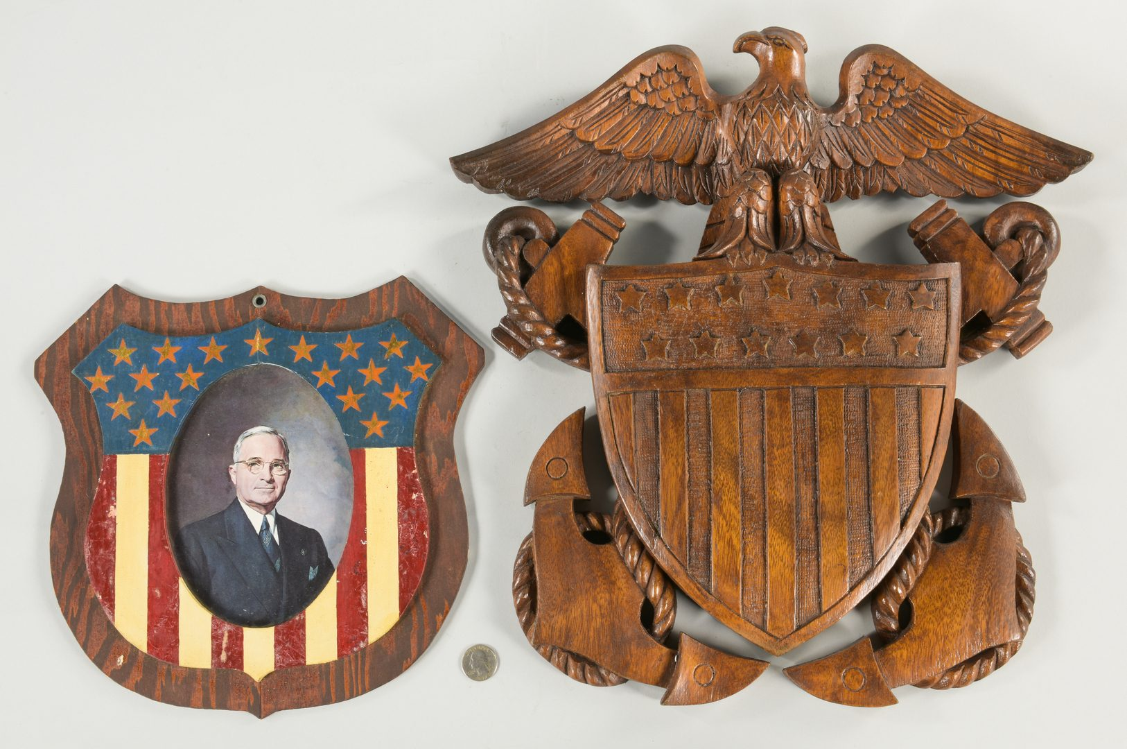 Lot 633: 4 Folk Art Americana Eagle Items