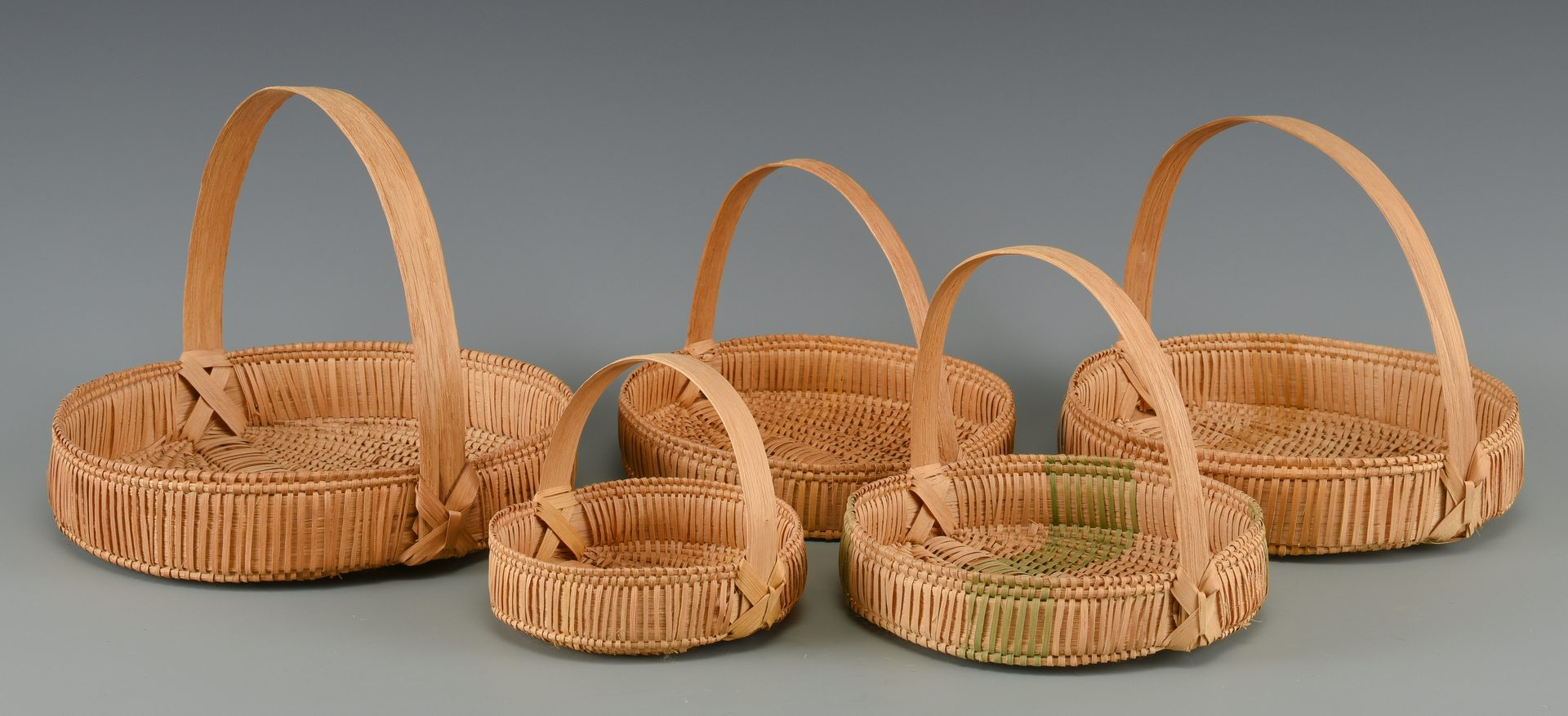 Lot 637: 5 TN Pie Baskets, Mary Prater