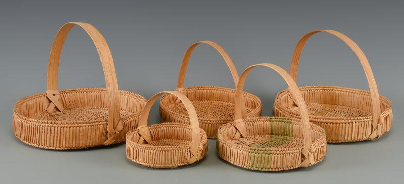 Lot 637: 5 TN Pie Baskets, Mary Prater