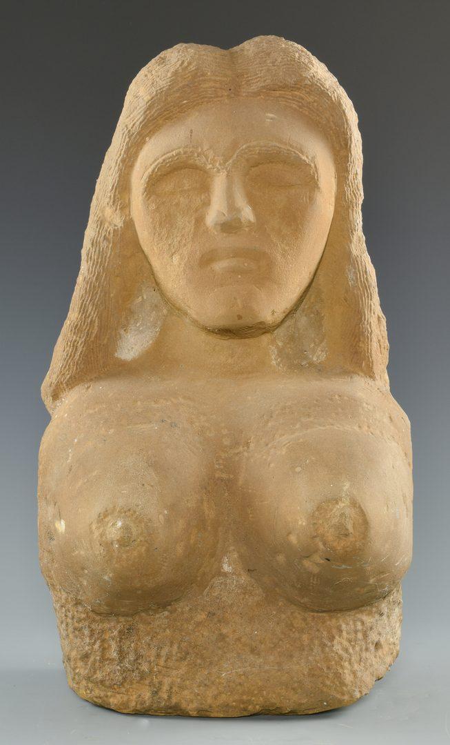 Lot 646: Popeye Reed, Sandstone Bust