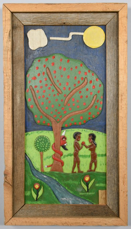 Lot 649: Leroy Almon, Sr. Carving, Adam and Eve