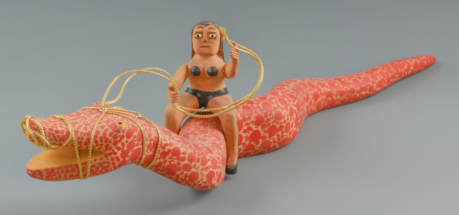 Lot 653: Sultan Rogers Carving, Woman on Snake