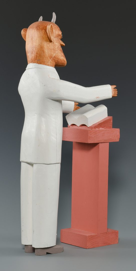 Lot 655: 2 Sulton Rogers Carvings, Horned Preacher with Pulpit