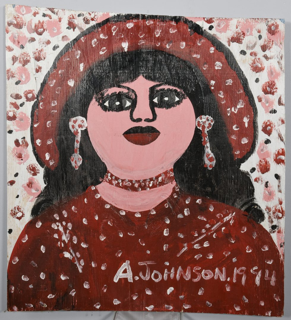 Lot 659: 2 Anderson Johnson Folk Art Paintings