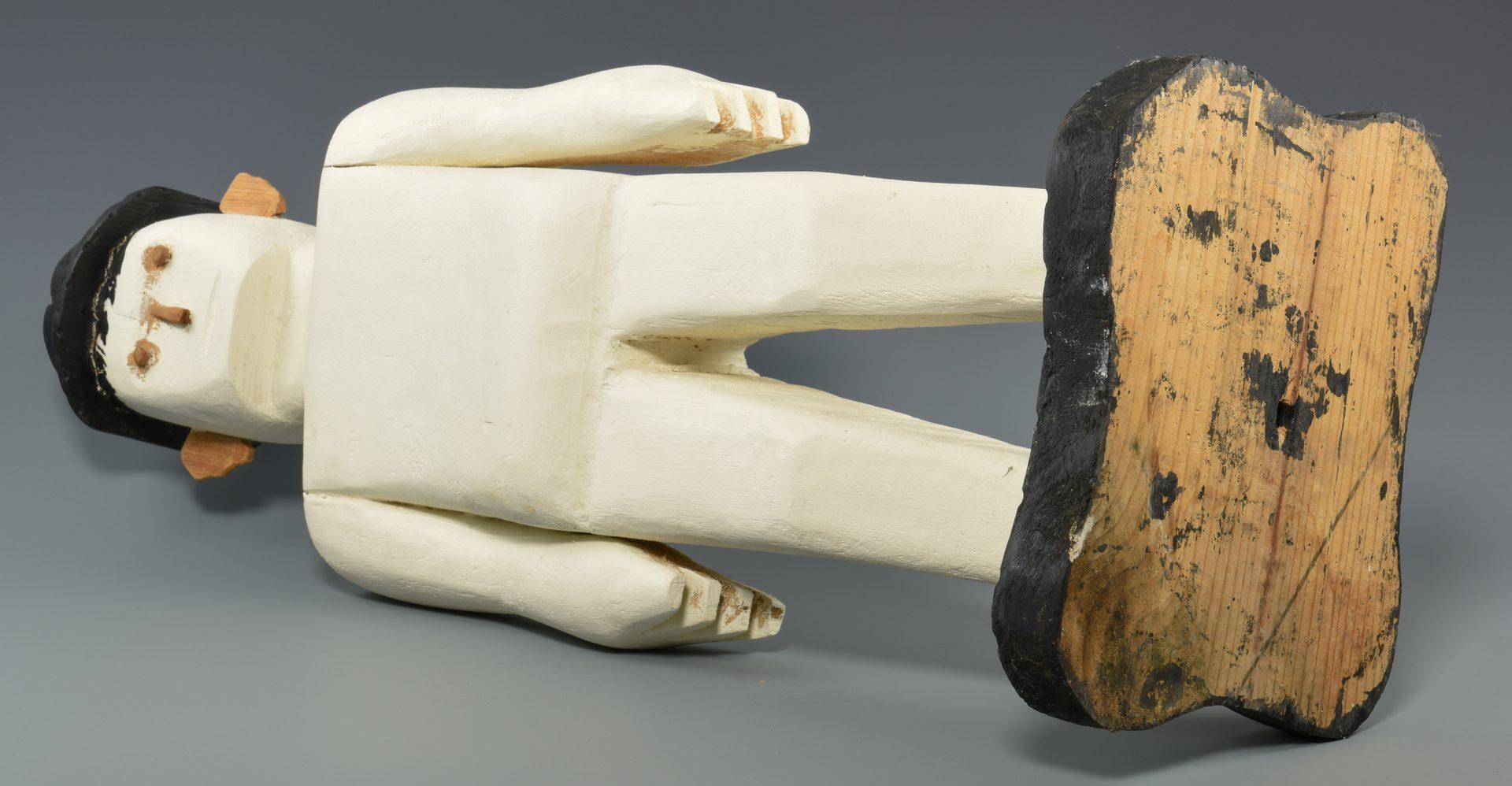 Lot 660: 2 Herbert Baggett Carvings, Man and Alligator