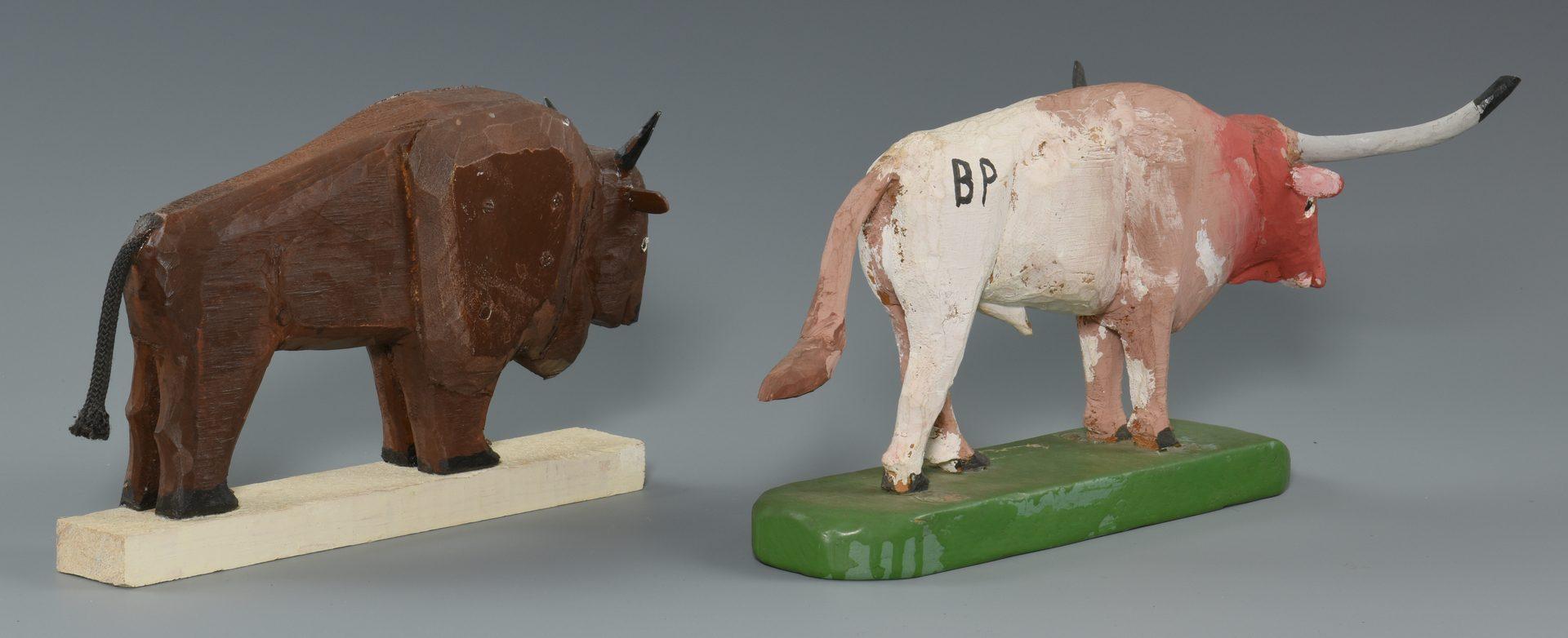 Lot 661: 3 Braxton Ponder Folk Art Carvings