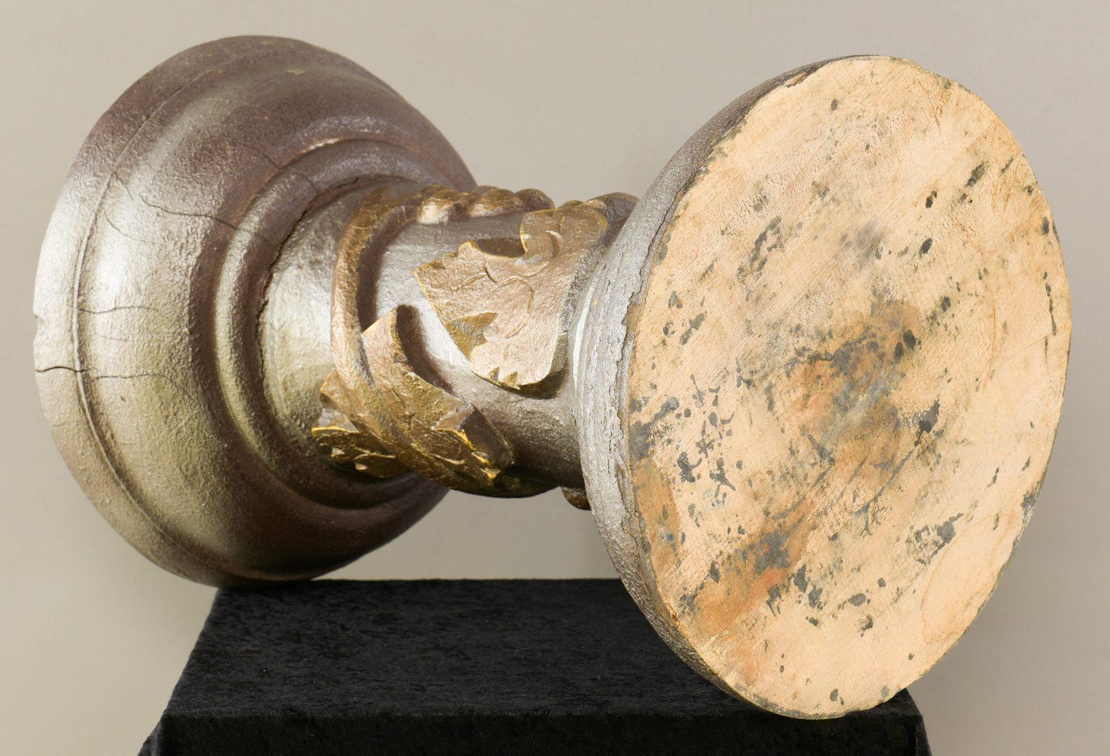 Lot 663: 4 Folk Art Item; Pedestal, Axe, Drum & Uncle Sam