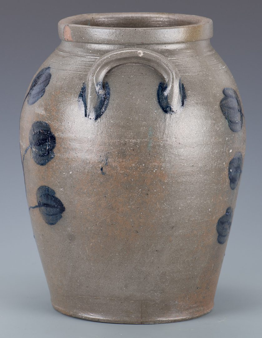Lot 672: Stoneware Jar with Tulips attr. VA
