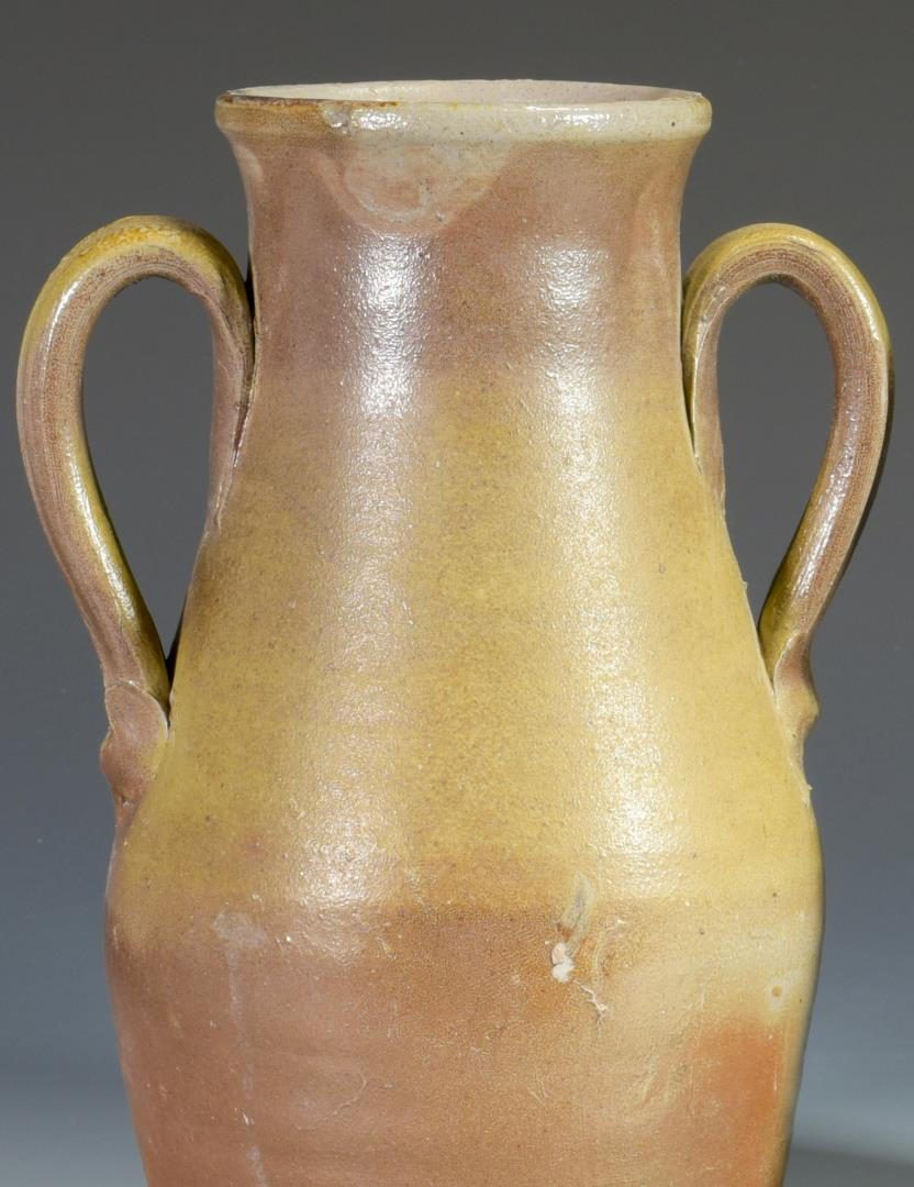 Lot 676: 2 Middle TN 2-Handled Pottery Jars or Urns