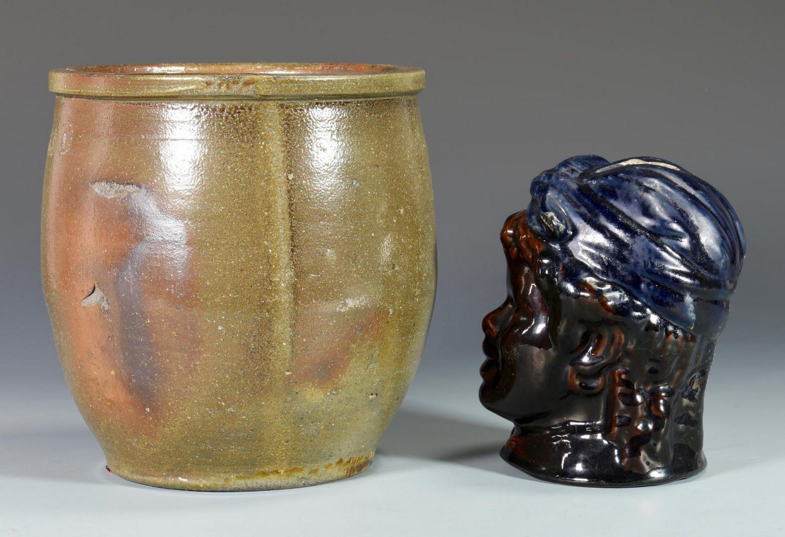Lot 679: 5 Asstd. Stoneware Pottery Items