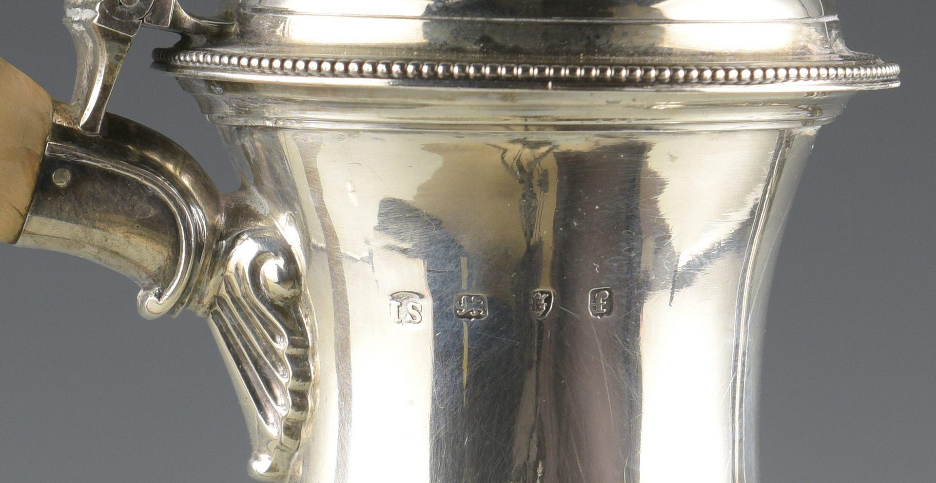 Lot 67: Geo. III Sterling Coffee Pot