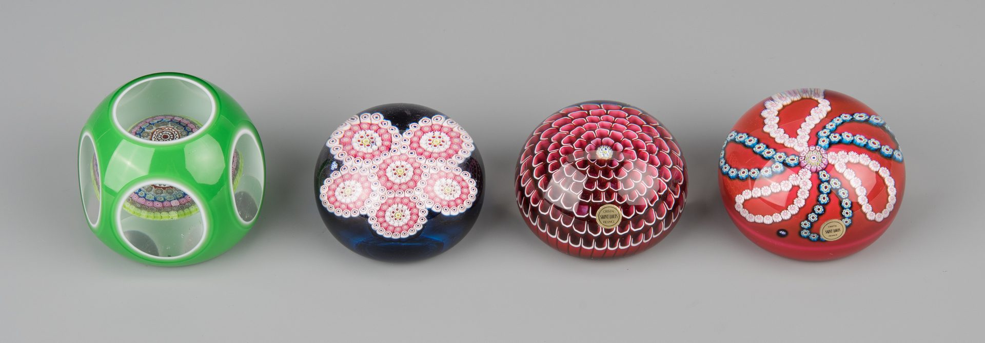 Lot 684: 8 St. Louis France Paperweights, incl Faceted