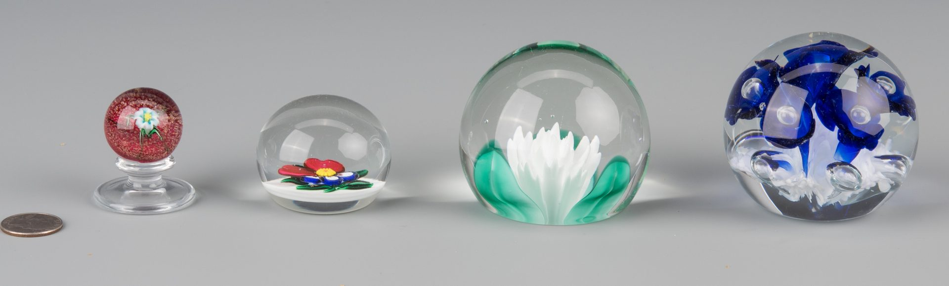 Lot 689: Group of 4 Paperweights, incl. Charles Kasiun, Jr.