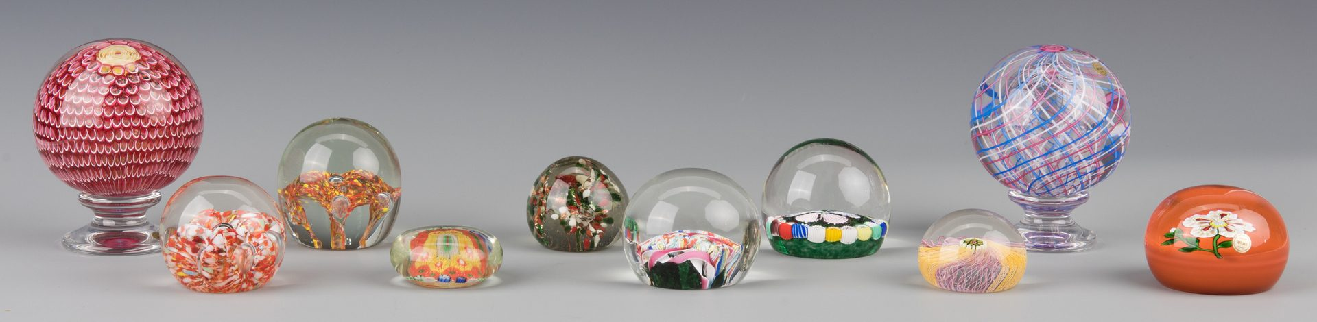 Lot 690: Assorted Group of 10 Paperweights