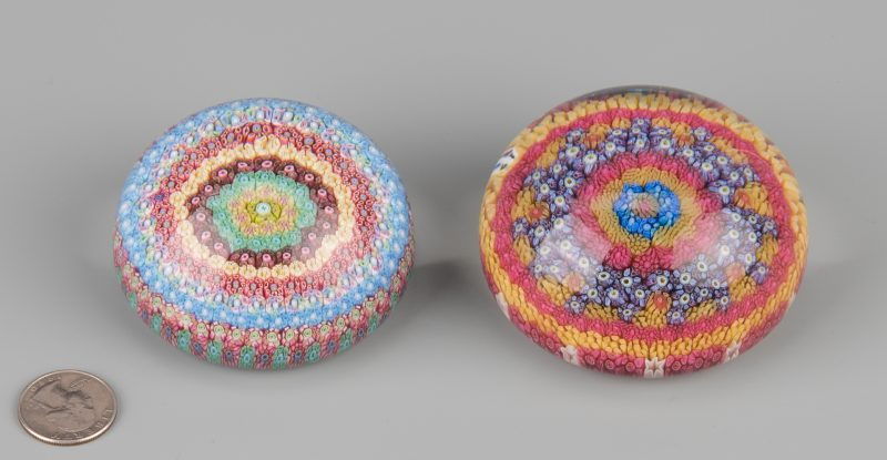 Lot 691: 2 Baccarat Paperweights 1968