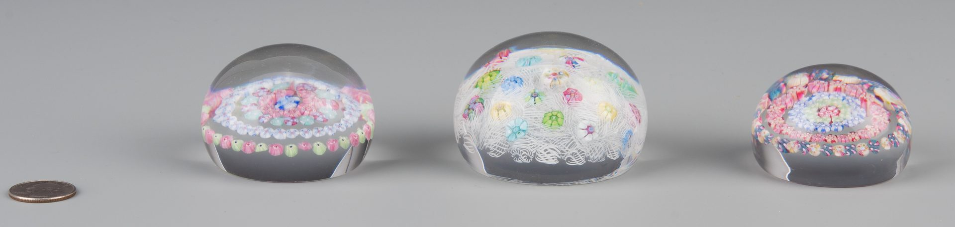 Lot 692: 3 Baccarat Millefiori Paperweights