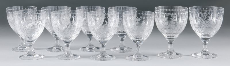 "Lot 693: William Yeoward ""Fern""  Goblets/Wine Glasses"