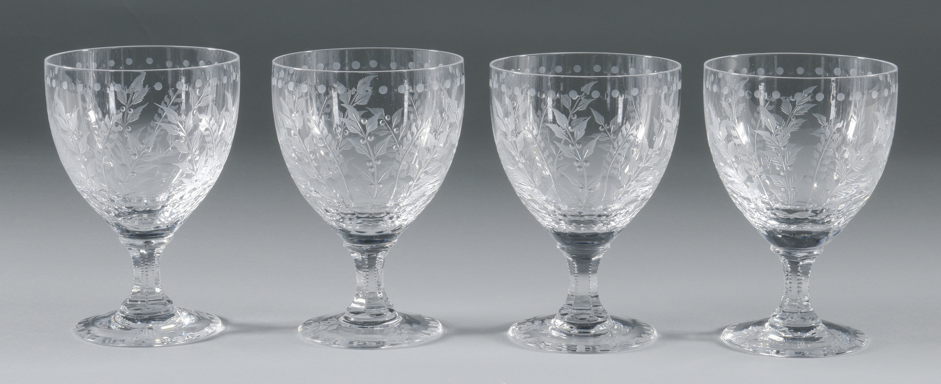 Lot 693 William Yeoward Quot Fern Quot Goblets Wine Glasses