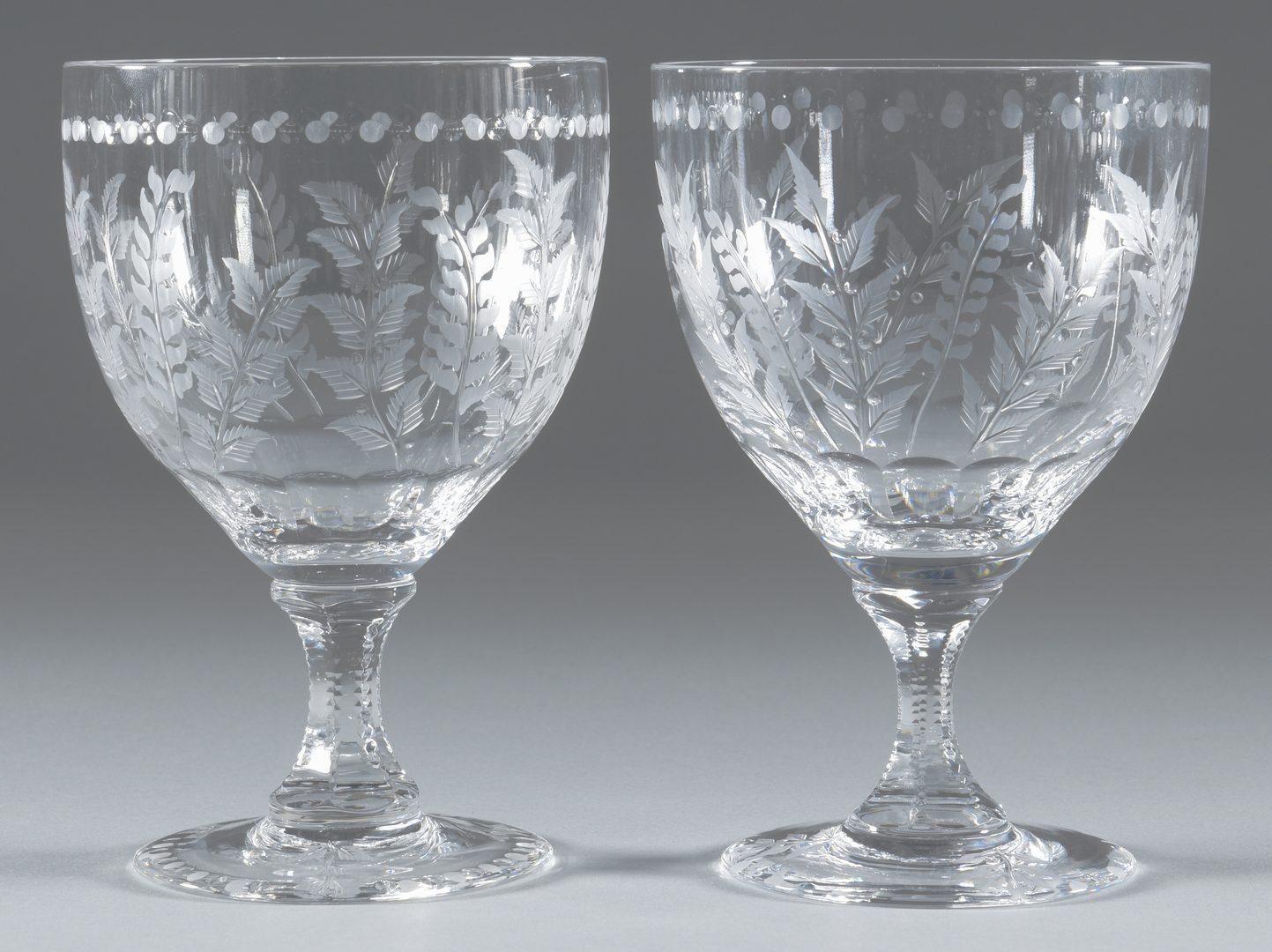 "Lot 693: William Yeoward ""Fern""  Goblets/Wine Glasses"