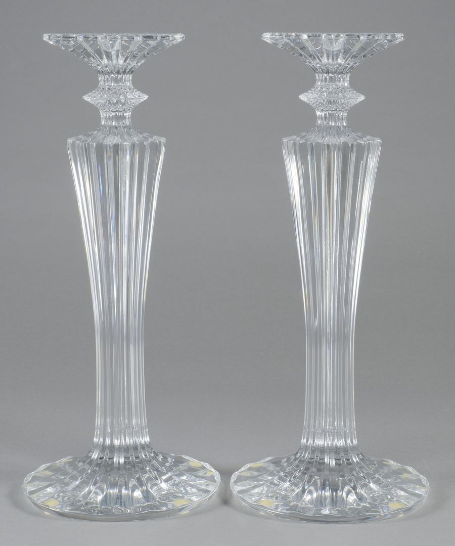 Lot 694 Pair Of Baccarat Mille Nuit Candlesticks