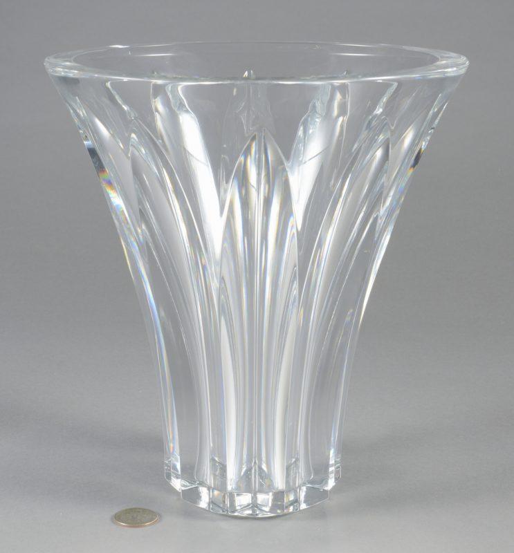 Lot 696: Baccarat Large Crystal Vase