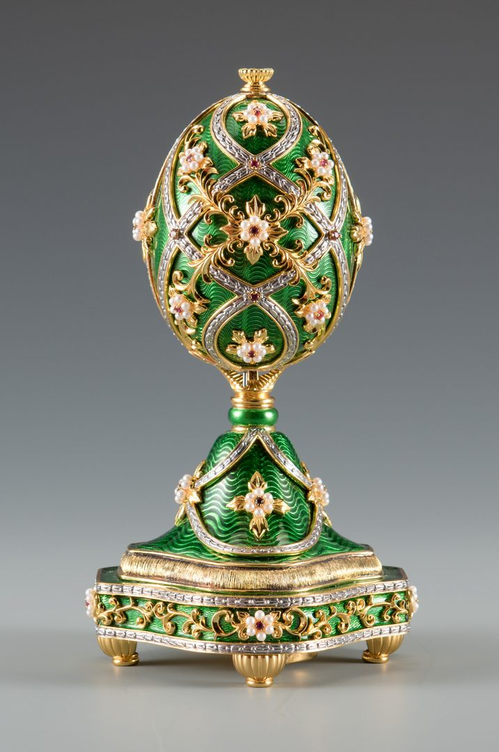 Lot 697: Franklin Mint Faberge Egg Music Box
