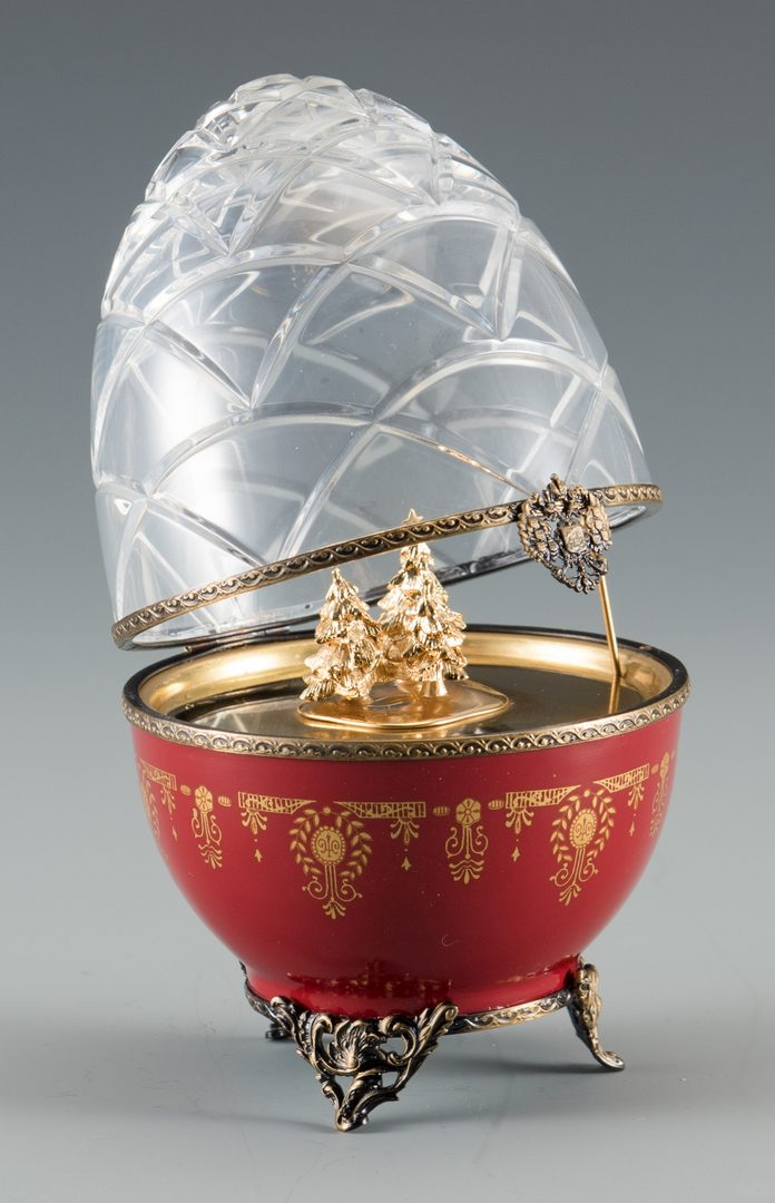 Lot 699: Faberge Limoges Christmas Egg